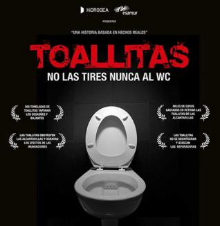 Campaña para acabar con las casi 3.000 toneladas de toallitas del alcantarillado de Murcia