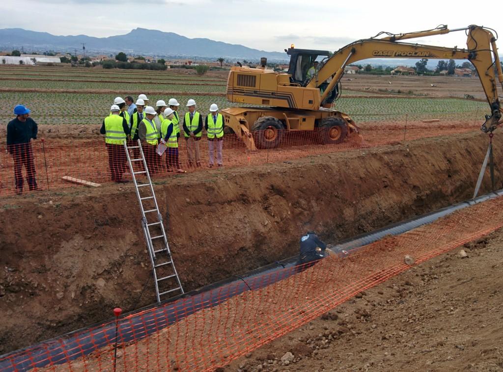 1,4 millones para acabar la tubería que llevará agua desalada al Valle del Guadalentín (Murcia)