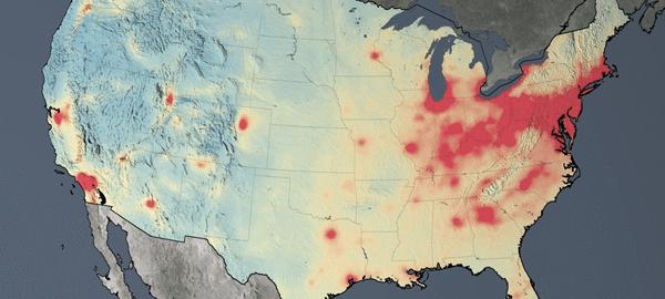 Aumenta la contaminación en China y disminuye en EEUU y Europa, según la NASA