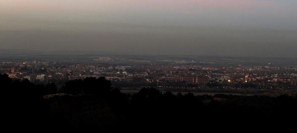 La polución se extiende a más de 30 kilómetros de Madrid
