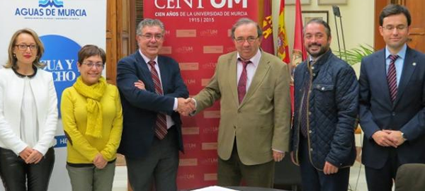 Aguas de Murcia financia la Cátedra del Agua y la Sostenibilidad