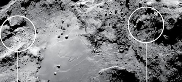 Descubren hielo en la superficie de un cometa