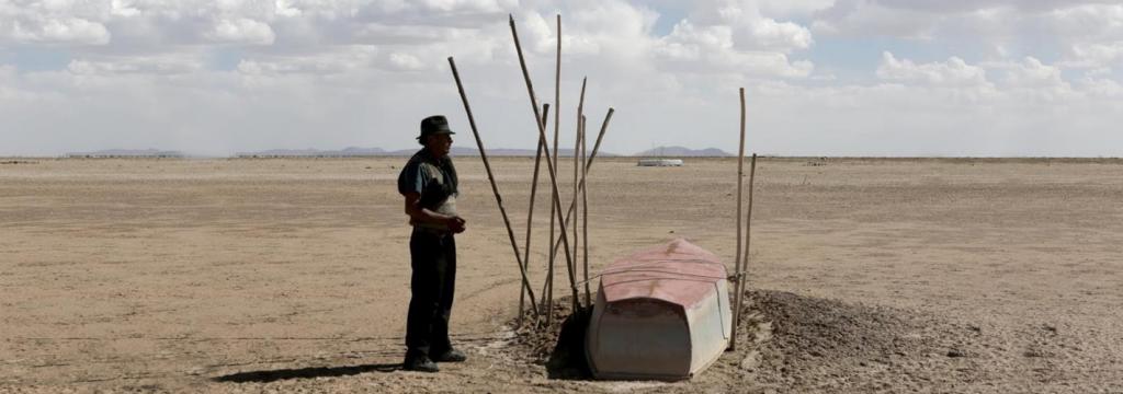 El cambio climático y el hombre convirtieron un desierto en un lago