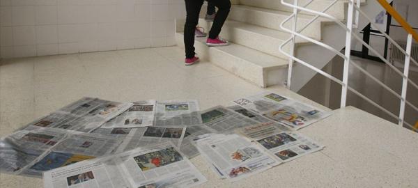 Escolares gallegos vuelven al cole con goteras
