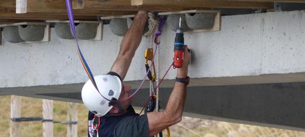 Aguas de Alicante coloca nidos de murciélagos y golondrinas para combatir de forma natural las plagas de insectos