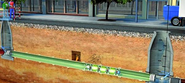 Aguas de Huelva emplea una novedosa tecnología para reparar la red de saneamiento