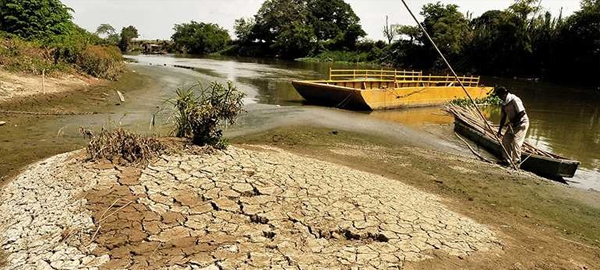 Desaparece un río en Colombia por la intervención de la mano del hombre