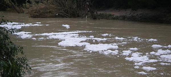Detectan un vertido contaminante en el río Guadaíra