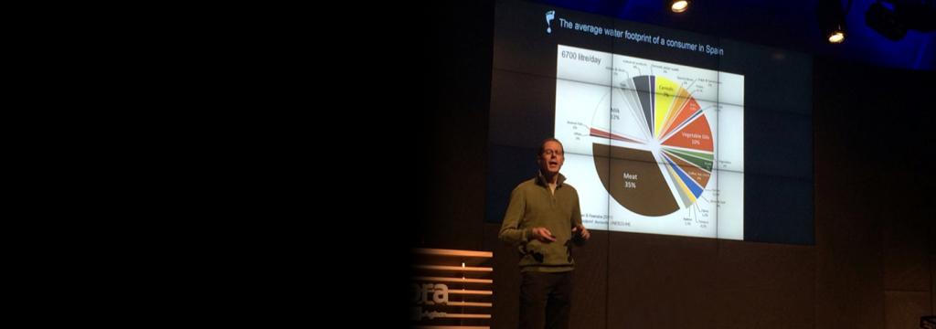 Hoekstra: «la medición de la huella hídrica en la cadena de distribución es clave»