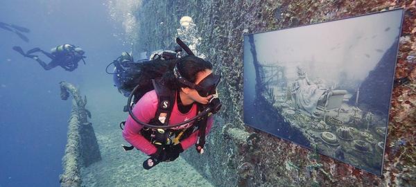 Crean una galería de arte debajo del mar