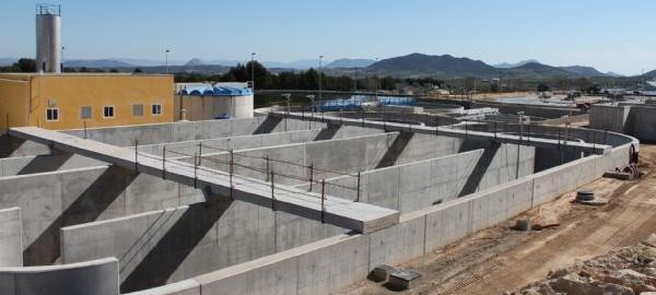 La depuradora de Bullas tratará casi 170 metros cúbicos de aguas residuales cada hora
