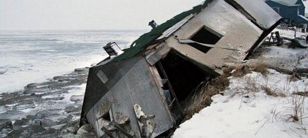 Una comunidad de Alaska abandona su isla por el cambio climático