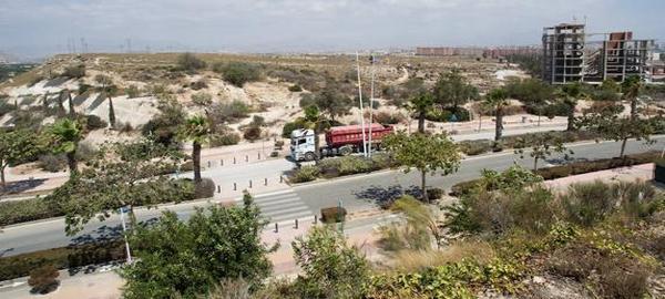 Hidraqua proyecta la creación de tres grandes pulmones verdes en Alicante