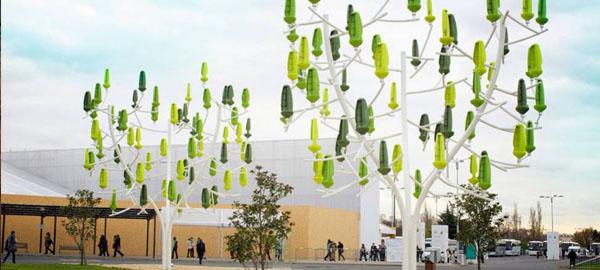 Un árbol artificial que convierte el viento en electricidad