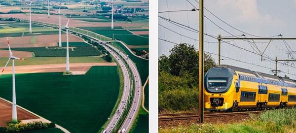 Holanda, primer país del mundo con trenes 100% eólicos