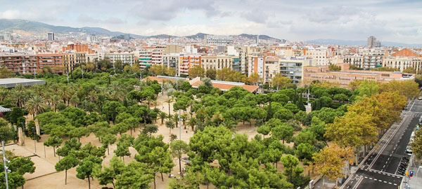 Barcelona, ciudad de referencia en espacios verdes y en calidad del aire