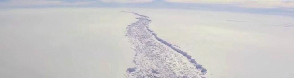 La grieta en la Antártida creará un iceberg mayor que Mallorca
