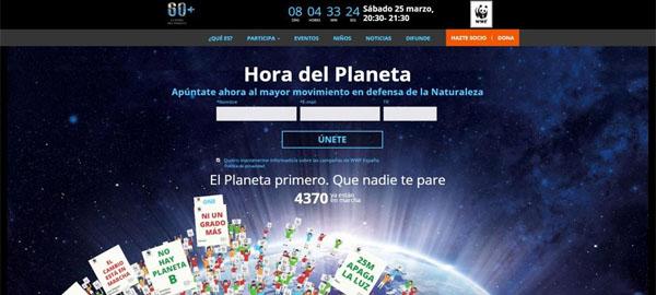 Más de 200 ciudades apagarán la luz el día 25 en la Hora del Planeta