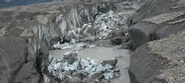 Un río completo desaparece en Canadá por el calentamiento global