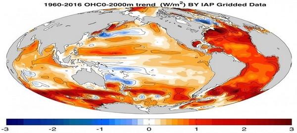 Sigue en aumento la temperatura de los océanos