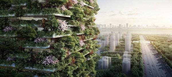 Jardines verticales para salvar a China de la contaminación