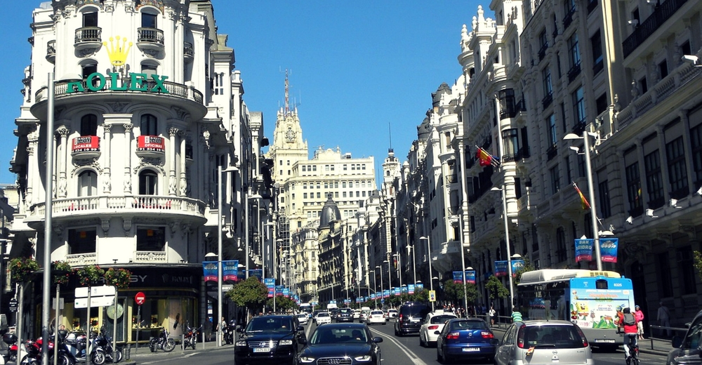 El tráfico de vehículos por La Gran Vía de Madrid se reducirá desde el 1 de diciembre hasta el 7 de enero