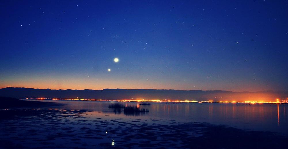 Los planetas Venus y Júpiter alineados en la misma zona del cielo