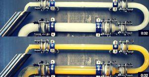 """El innovador sistema """"ice-pigging"""" limpia tuberías y alcantarillas con topologías complejas"""