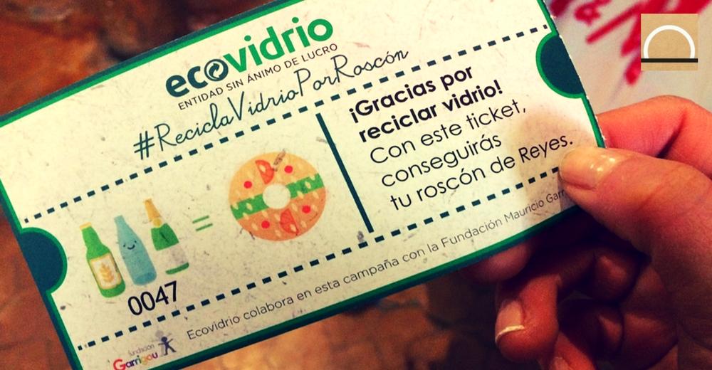 Ecovidrio pone en marcha la campaña de Navidad: un roscón de reyes por un kilo de vidrio
