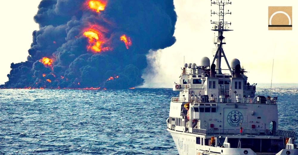 Alerta ambiental en China tras el derrame del petrolero iraní Sanchi