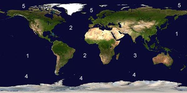 Conoces Los 5 Oceanos De La Tierra Hidroblog