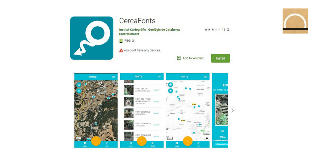CercaFonts: una app gratuita para detectar fuentes naturales de agua en Cataluña