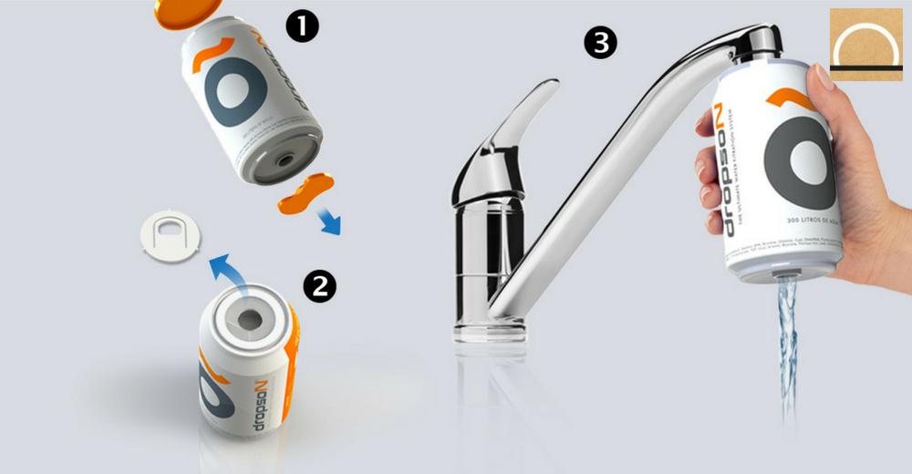 Dropson: un innovador filtro de agua de grifo