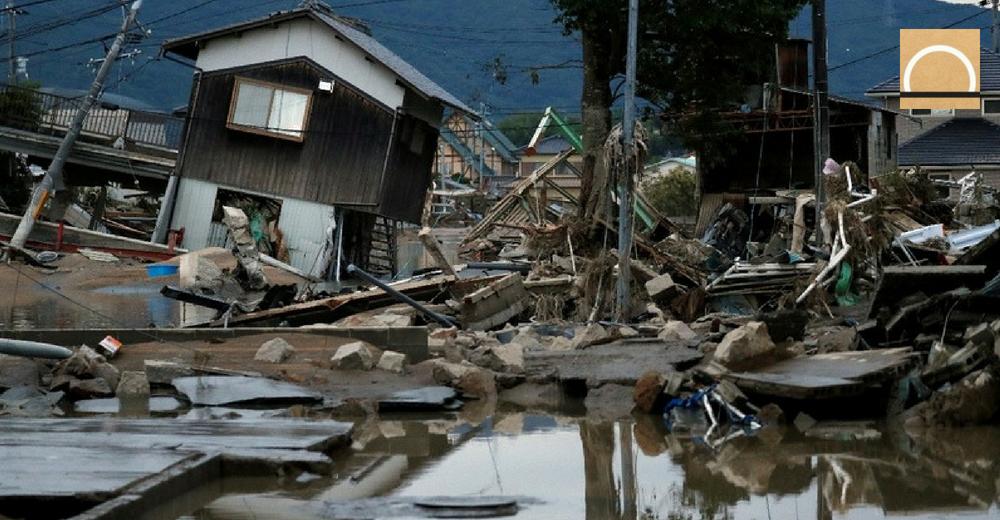 El desastre que provocaron las lluvias torrenciales en Japón