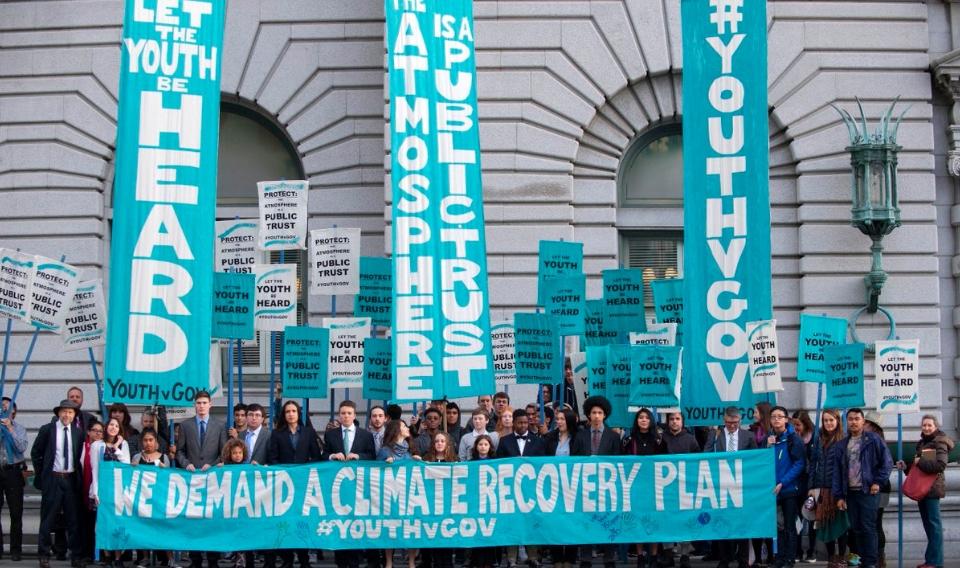 Un grupo de jóvenes lleva a juicio a Estados Unidos por el cambio climático