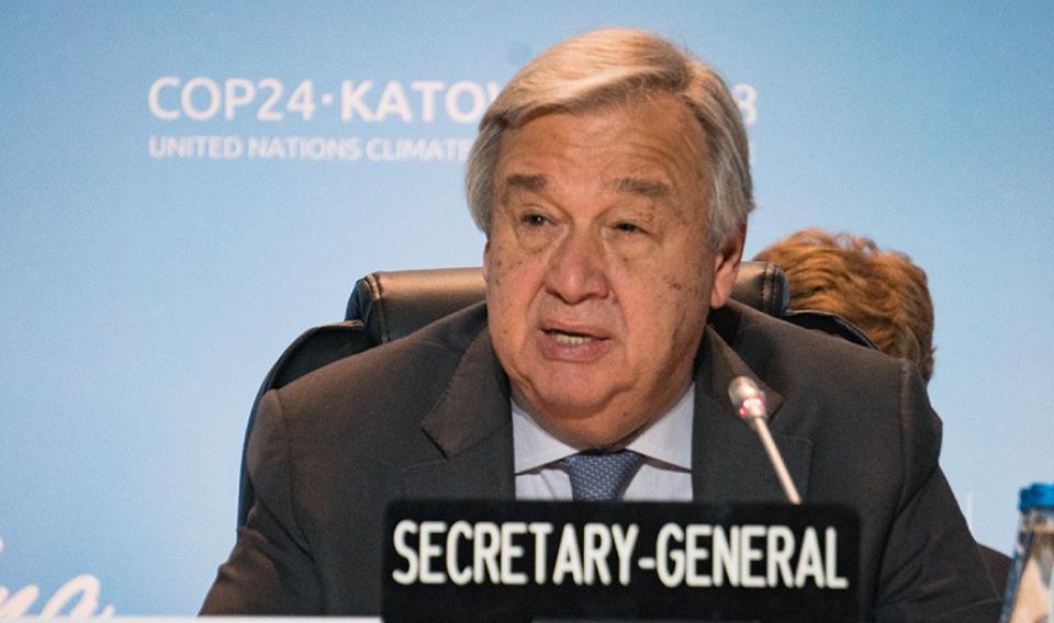 Guterres: «Fallar en la cumbre del clima sería inmoral y suicida»