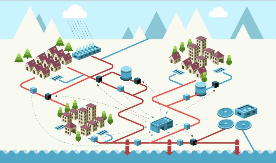 Mejoran la red de drenaje urbano a través del control coordinado con las depuradoras