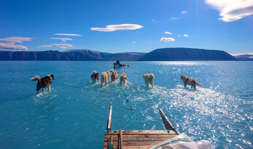 El deshielo en Groenlandia se intensifica y lo demuestra la imagen de Steffen Olsen
