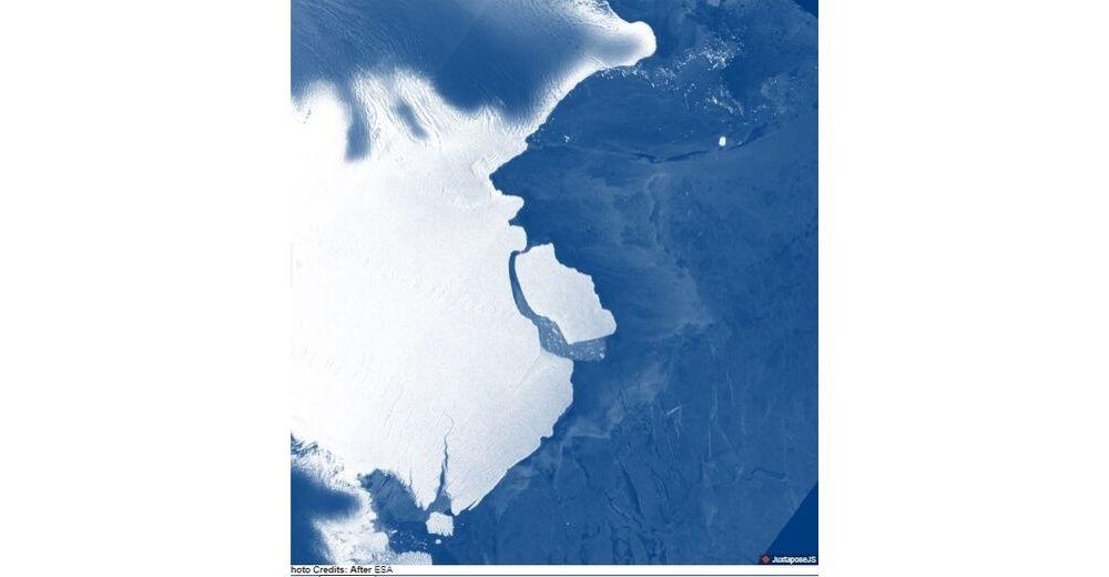 Una masa de hielo de 1.636 kilómetros se desprende de la plataforma Amery